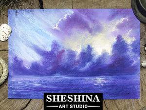 Рисуем сухой пастелью грозовые облака на море: Speed Painting. Ярмарка Мастеров - ручная работа, handmade.