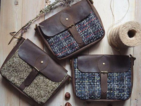 Новые текстильно-кожаные сумочки! | Ярмарка Мастеров - ручная работа, handmade