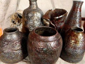 Керамические раку-вазы. Ярмарка Мастеров - ручная работа, handmade.