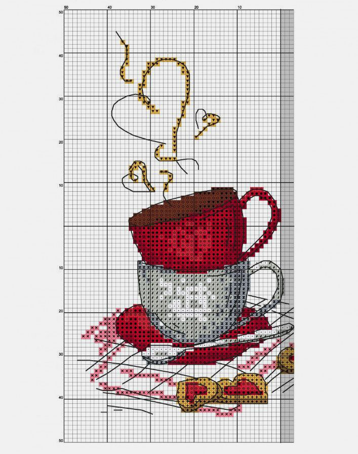 the scheme for embroidery