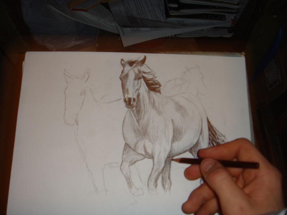 лошадка, картина
