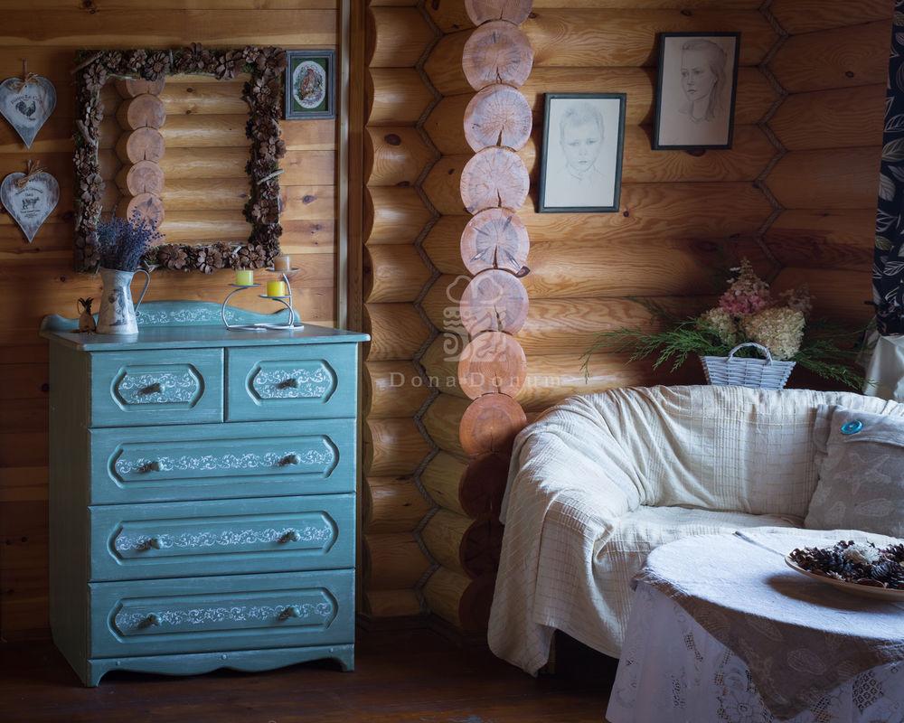 русская усадьба, покраска мебели
