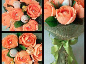 Учимся делать розу из гофрированной бумаги | Ярмарка Мастеров - ручная работа, handmade
