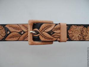 Изготавливаем женский кожаный ремень с тиснением. Ярмарка Мастеров - ручная работа, handmade.