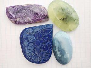 Кабошоны из натуральных камней. Ярмарка Мастеров - ручная работа, handmade.