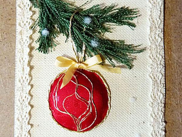 Textile Christmas Card | Livemaster - handmade