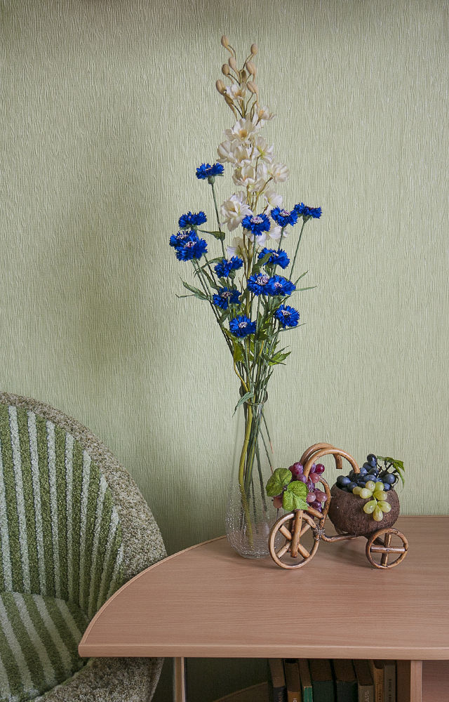 Делаем букет васильков из подручных материалов, фото № 2