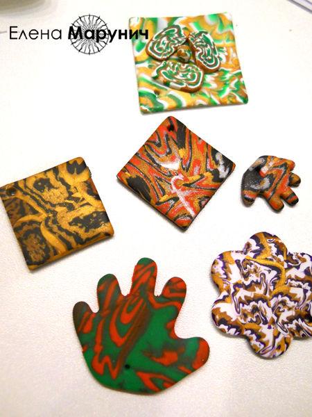 полимерная глина мастер класс , полимерная глина уроки , полимерная глина имитация кожи  урок, имитация серебра урок, имитация камня урок, украшения из пластика своими руками, Mokume Gane, мокуме гане
