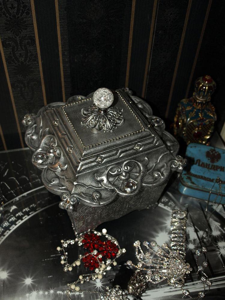 серебряный ларец, коллекционные украшения