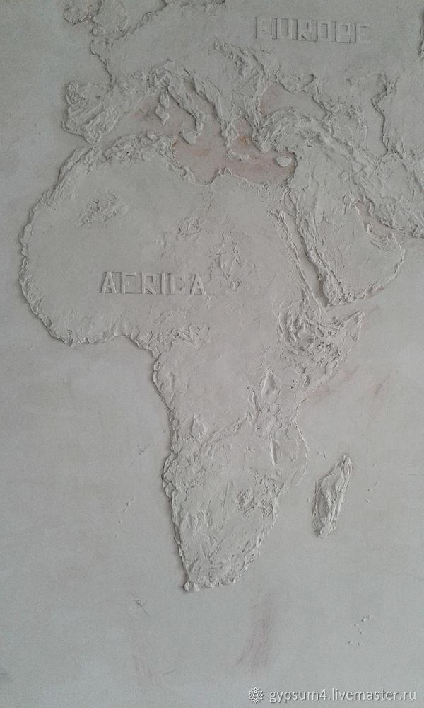Изготавливаем барельеф «Карта», фото № 22