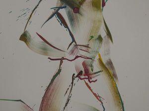 Графика обнаженной мужской натуры (ню).. Ярмарка Мастеров - ручная работа, handmade.