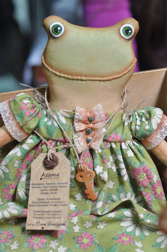 Ольга винокурова примитивная кукла лягушка Агата