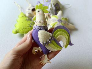 Шьем симпатичного петушка из фетра. Ярмарка Мастеров - ручная работа, handmade.