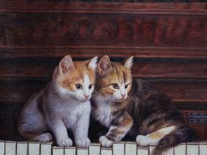 Кошки в живописи. Ярмарка Мастеров - ручная работа, handmade.