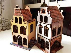Вот три готовых домика, а то уже все запутались!). Ярмарка Мастеров - ручная работа, handmade.