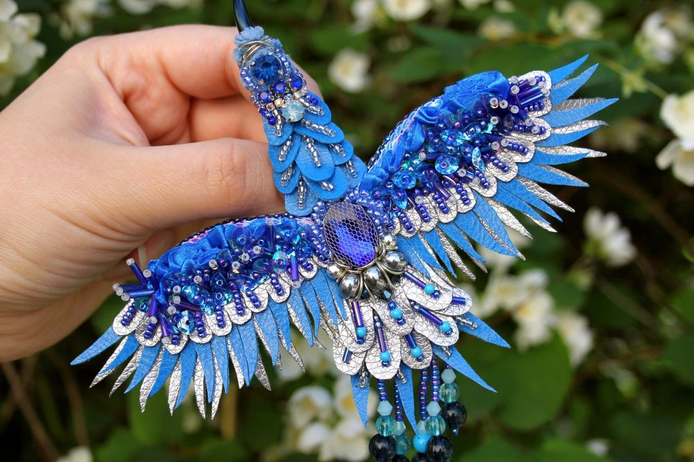 брошь синяя птица, один такой