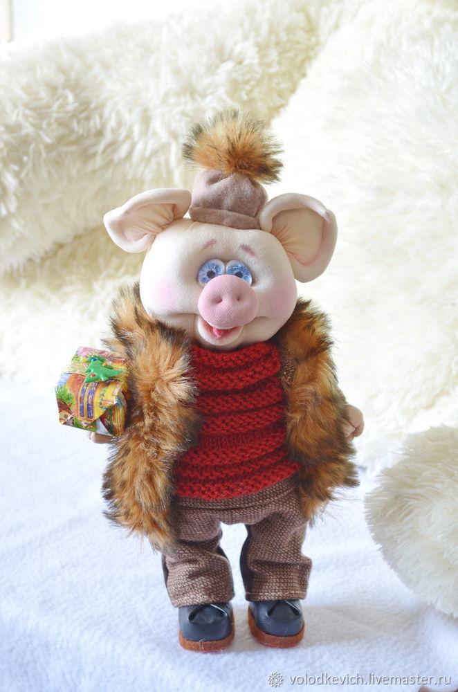 поросенок, куклы из капрона, символ 2019 года, свинка, хрюша