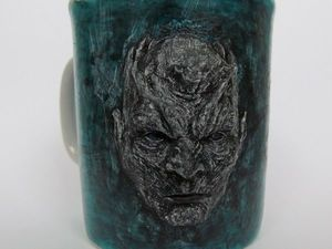 Sculpting and Decorating a King Night Relief on a Cup. Livemaster - handmade