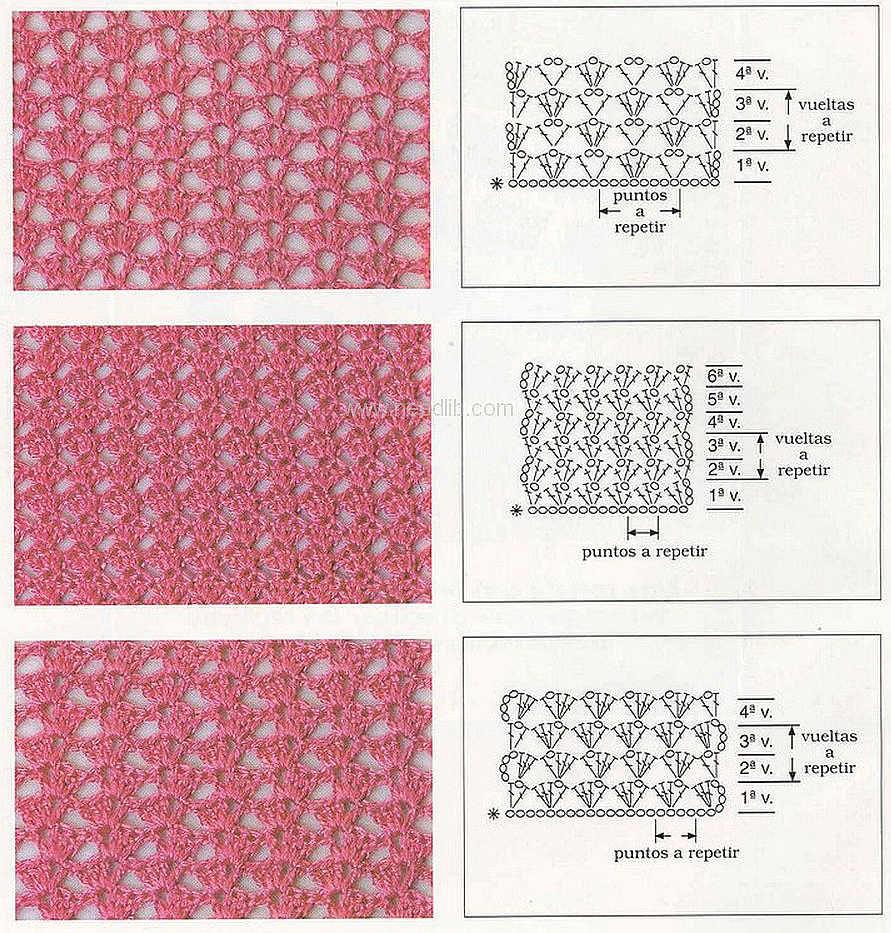 Вязание крючком картинки схемы