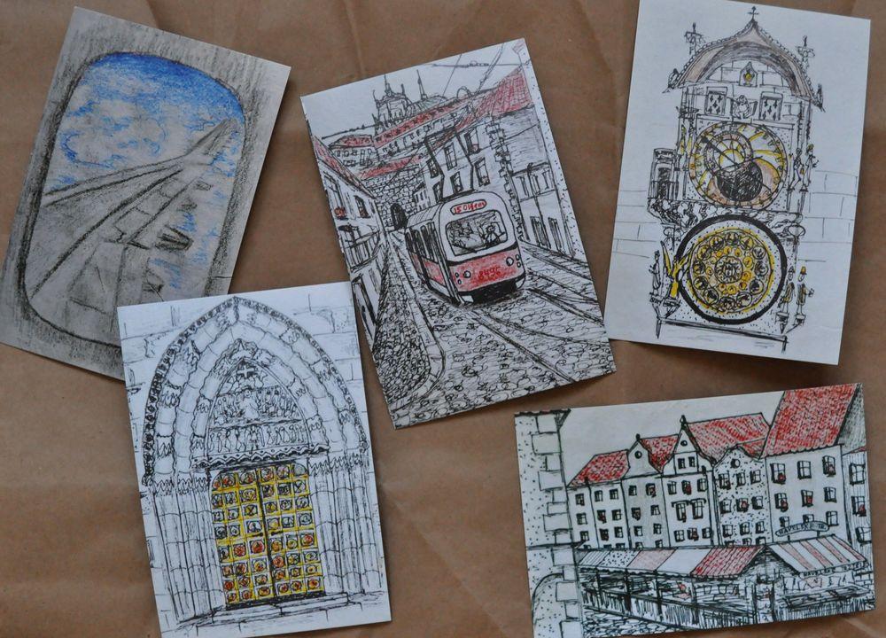 Печать почтовые открытки, устала