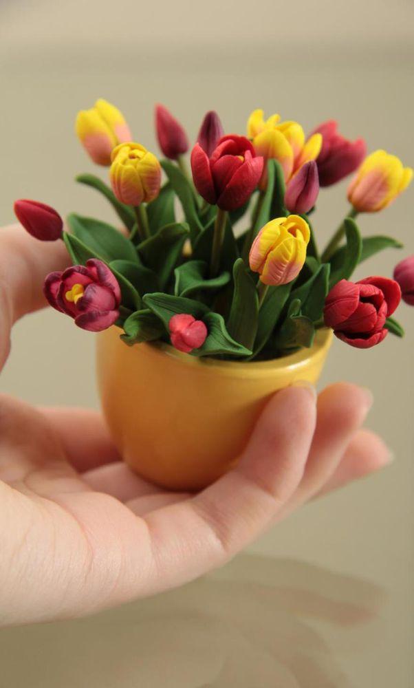 будуарт мытищи, полимерная глина, миниатюрные цветы