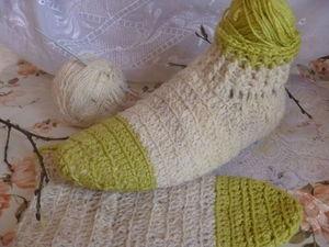 Вязание крючком для начинающих. Вяжем носки. Ярмарка Мастеров - ручная работа, handmade.