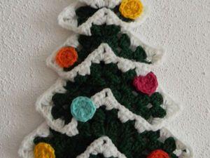 Вяжем три разные елочки на основе мотива «бабушкин квадрат». Часть 1. Ярмарка Мастеров - ручная работа, handmade.