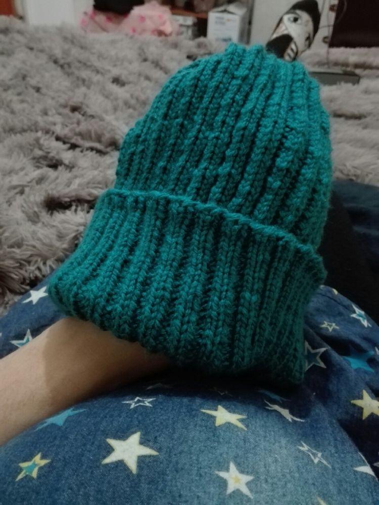 вязаная шапка., зимняя шапка