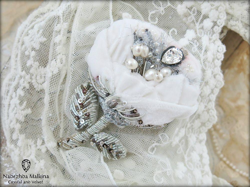 брошь, ручная вышивка, вышивка haute couture