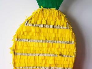 Создаем пиньяту «Ананас» для гавайской вечеринки. Ярмарка Мастеров - ручная работа, handmade.