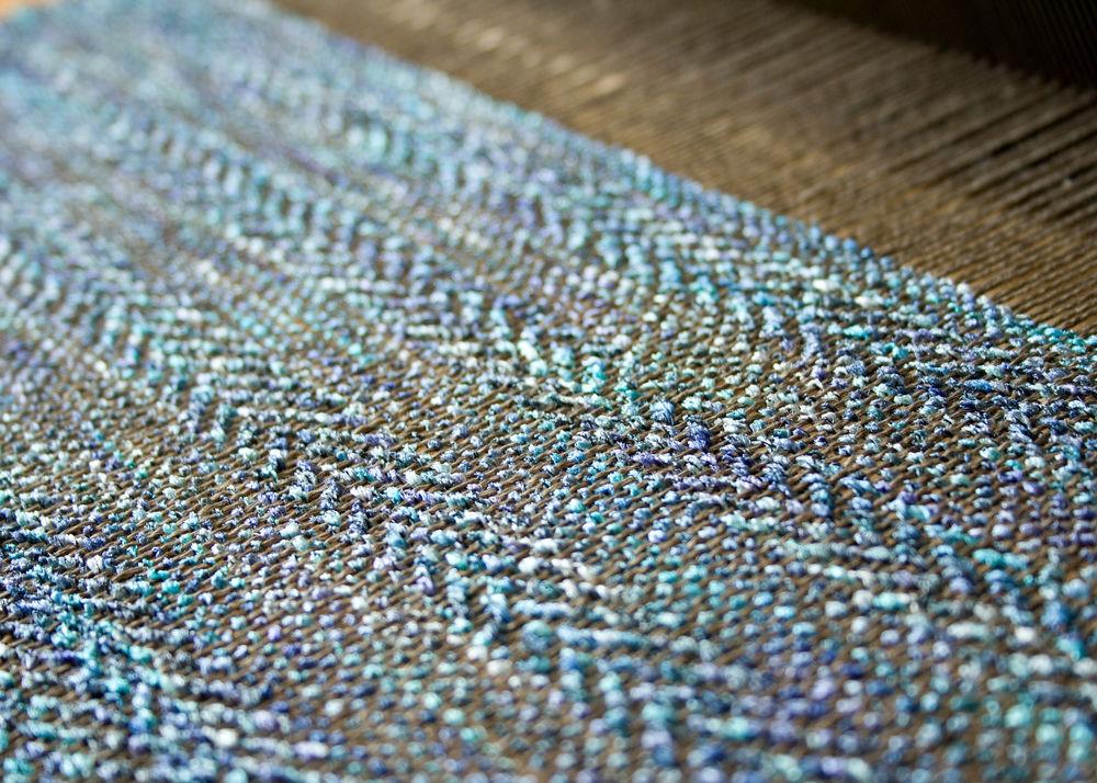 ручное ткачество, летний палантин