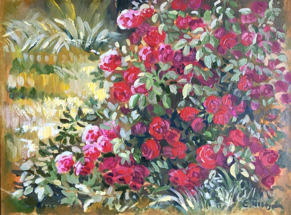 цветы на картине