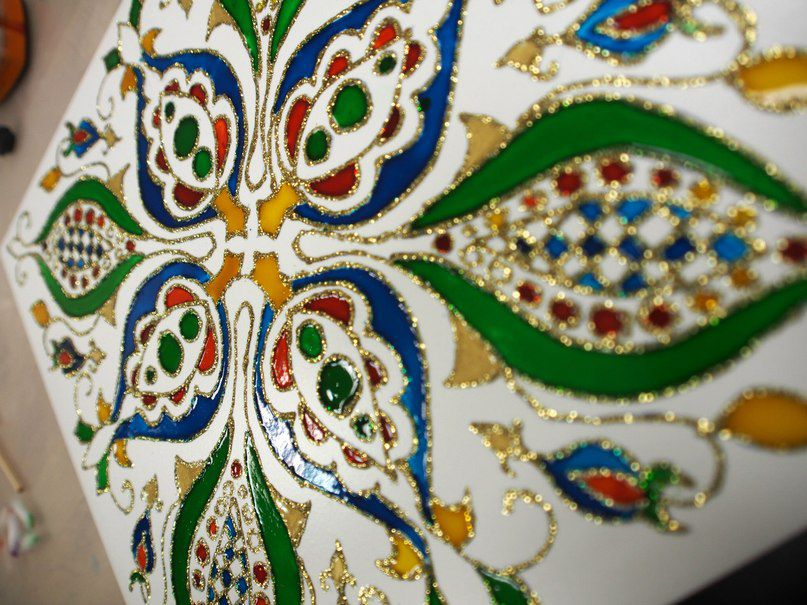 Роспись по керамической плитке своими руками мастер класс 83