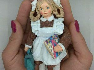 Ватная елочная игрушка  Первоклашка. Ярмарка Мастеров - ручная работа, handmade.