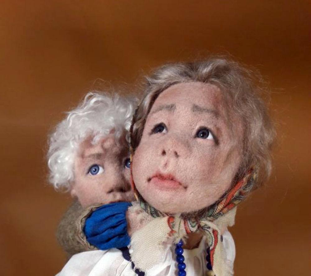 сухое валяние, победители, дети, конкурсная работа, коллекционная кукла