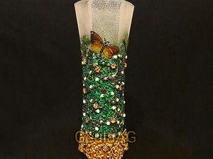 Декоративная ваза с росписью Зачарованный лес. Ярмарка Мастеров - ручная работа, handmade.