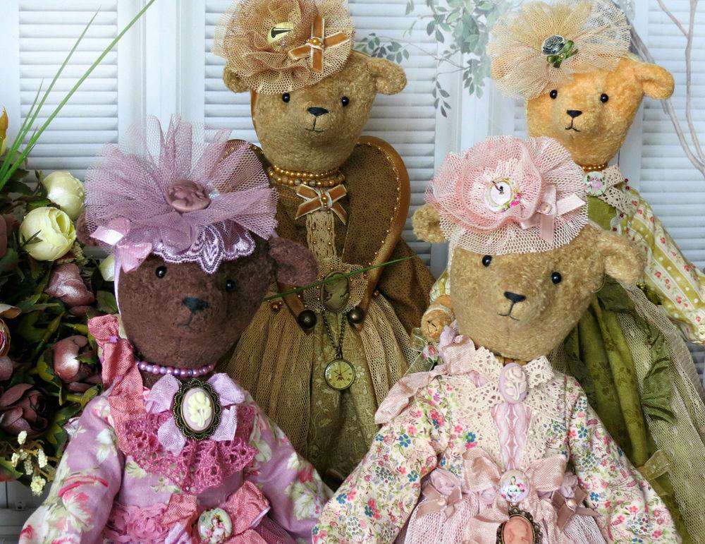 игрушки леди и медведи, мишки леди барышни
