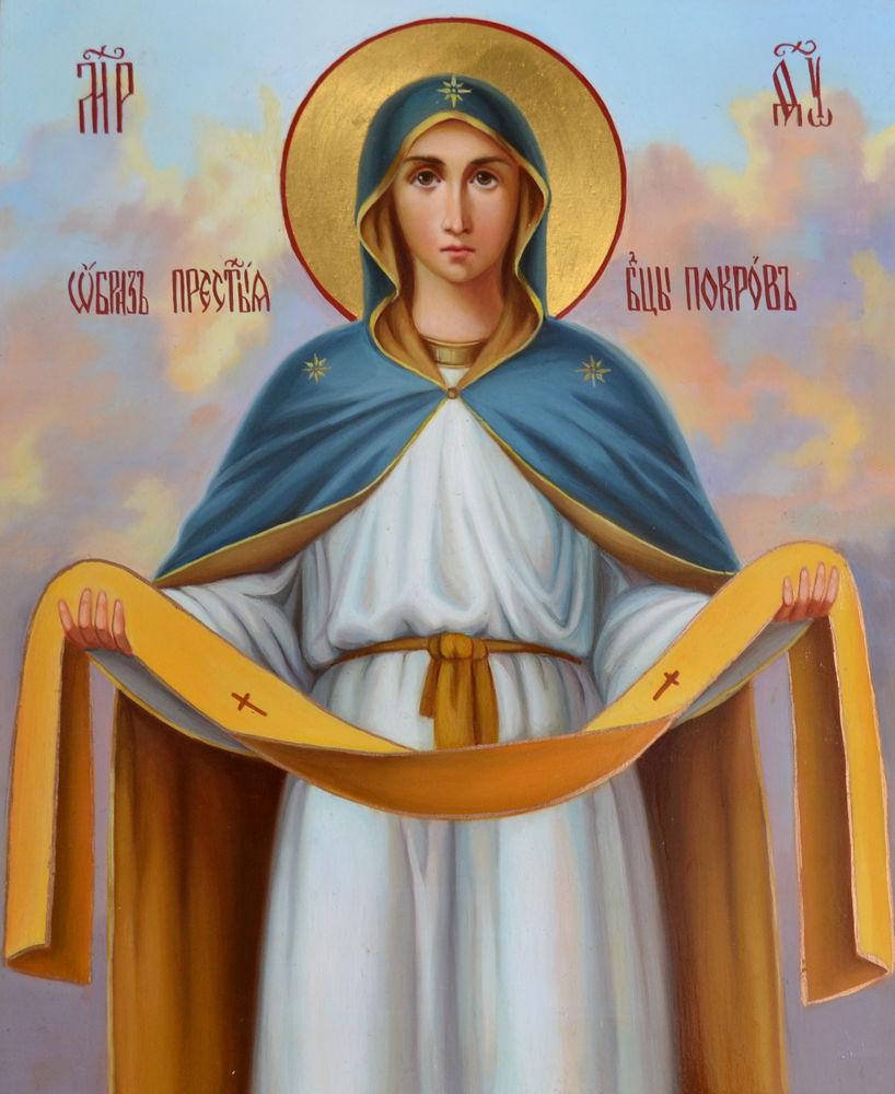 икона в подарок, православие, православные подарки, богородица покров, рукописная икона, православная икона