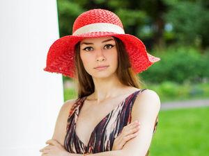 Красная соломенная шляпа за 3600 руб.!!. Ярмарка Мастеров - ручная работа, handmade.