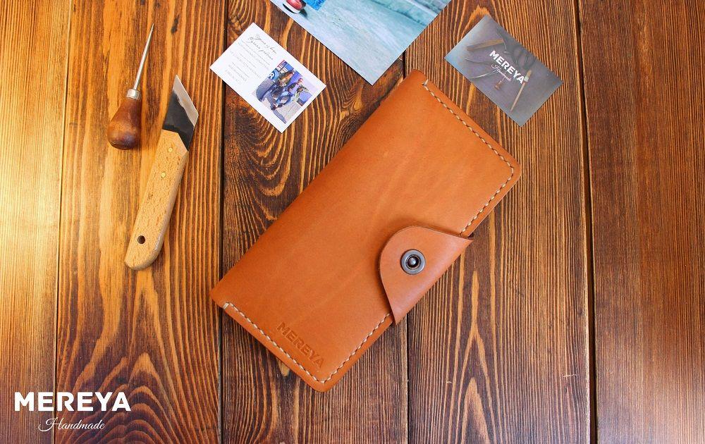 натуральная кожа, подарок, портмоне ручной работы