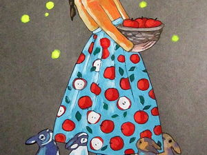 Графика, Яблочки, формат А4, художник А. Шуберт. Ярмарка Мастеров - ручная работа, handmade.
