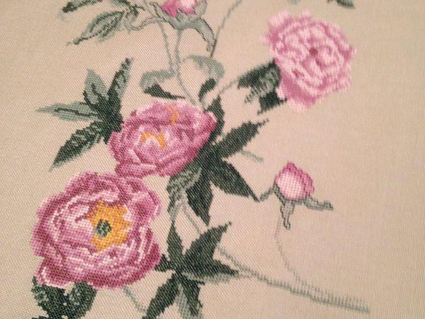 Пионы. Вышивка в интерьере. | Ярмарка Мастеров - ручная работа, handmade