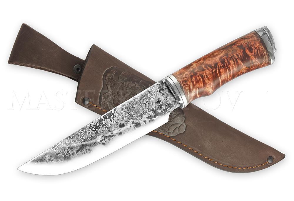 кованый нож ручной работы, туризм, подарок рыбаку