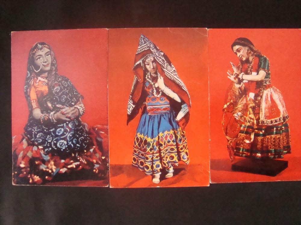 набор открыток, индийский стиль, национальная одежда