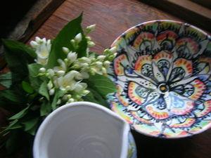 Роспись керамической тарелки в технике