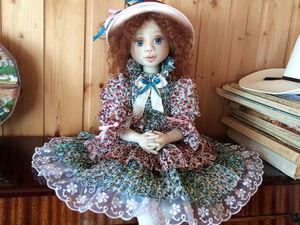 Кукла текстильная Виолетта — кисейная барышня. Ярмарка Мастеров - ручная работа, handmade.