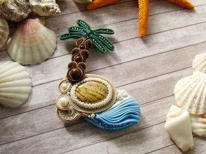 Создаем сутажную брошь «Карибы». Ярмарка Мастеров - ручная работа, handmade.