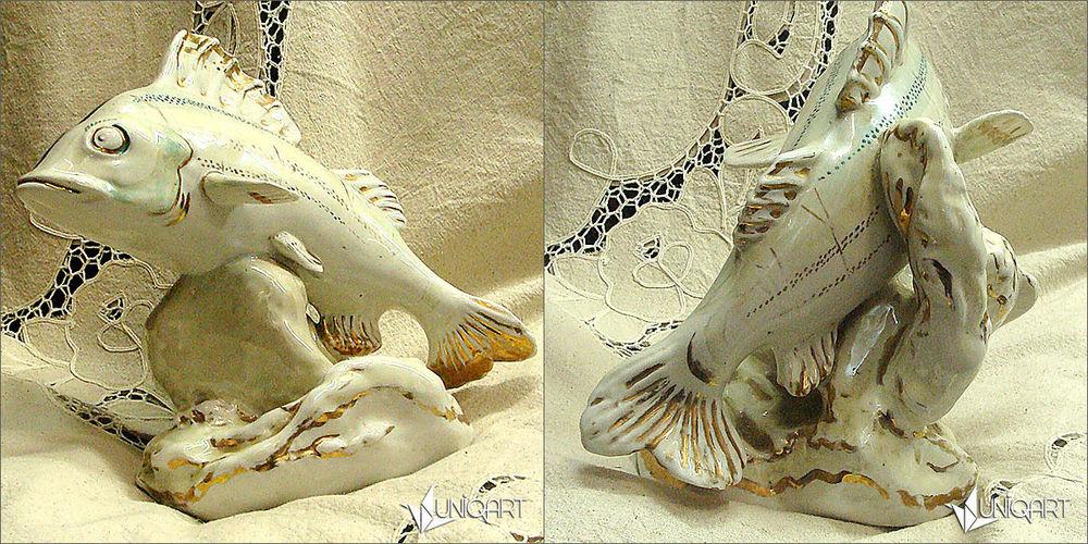 фарфор, антикварная статуэтка, рыбы, винтаж, винтажный стиль, советский союз, ретро стиль, скульптура, фигурка, старые вещи