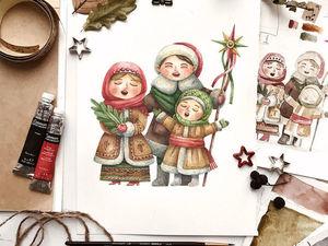 Поздравляю с Рождеством Христовым!. Ярмарка Мастеров - ручная работа, handmade.