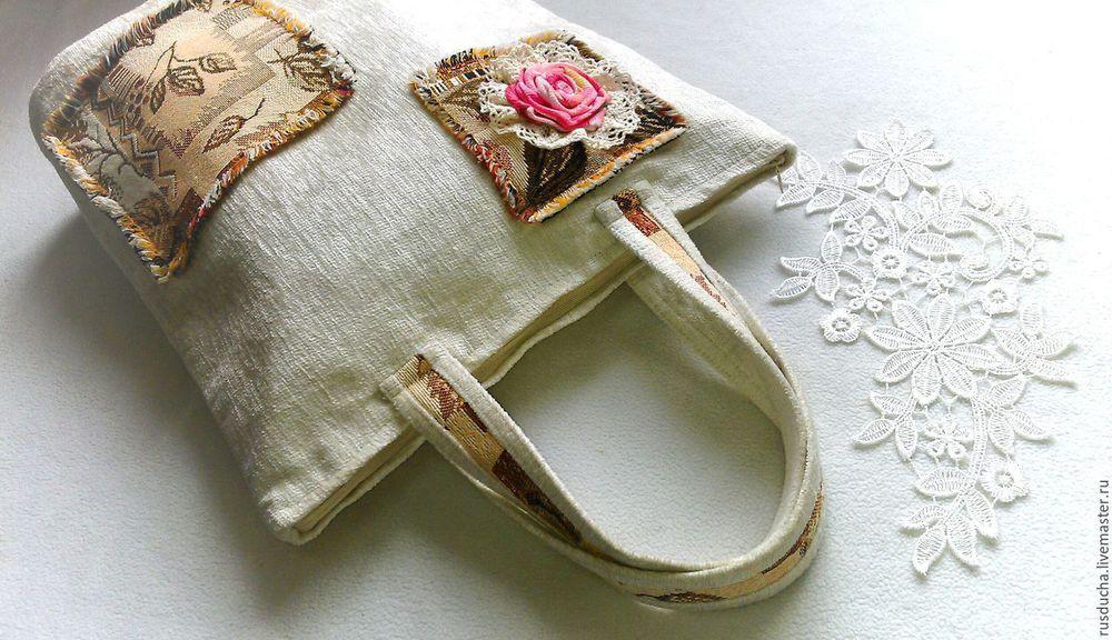 сумочки из льна